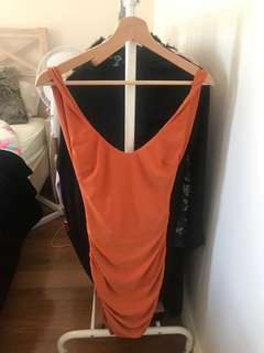 Tigermist open back XS dress