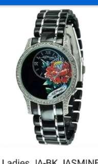 ED HARDY Ladies JA-BK JASMINE BLACK Ceramic Watch