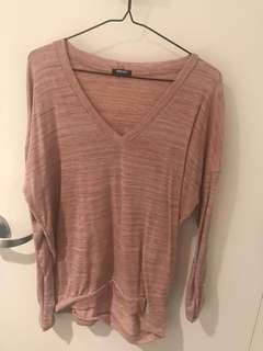 Pink shirt top
