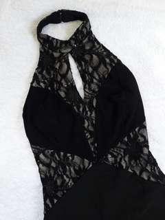 Jane Norman Long Black Gown
