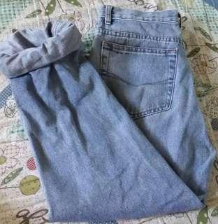Giordano Blues high-waisted mom jeans