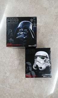 Star Wars Hasbro Helmets The Black Series, Darth Vader and Storm Trooper