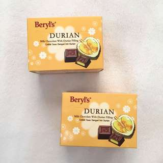 Beryl's Durian Chocolate Imported from Malaysia
