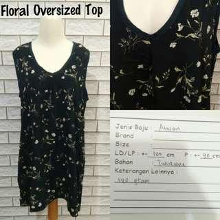 Floral Oversized Top | Pakaian Wanita | Atasan Import