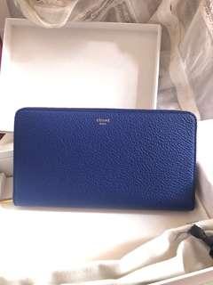 Celine Long Wallet, 100% new, classic style 全新Celine長銀包, 低調藍色
