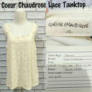 Coeur Chaudrose Lace TankTop | Pakaian Wanita | Atasan Import