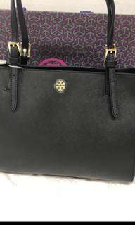 Tory Burch York tote黑,深藍 小30x22cm 大37x28cm