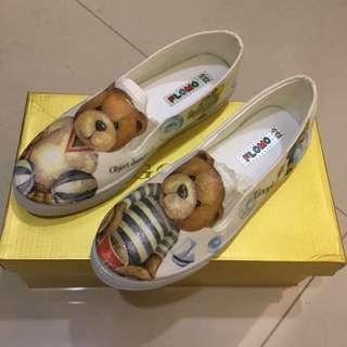 全新✨手工 小熊 懶人鞋 23.5cm