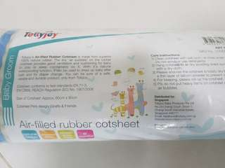 Baby cotsheets air filled rubber change pamper diaper