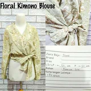 Floral Kimono Blouse | Pakaian Wanita | Atasan Import