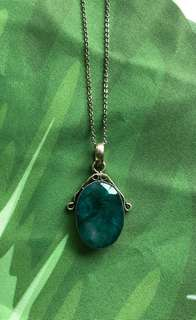 Emerald pendant with free chain