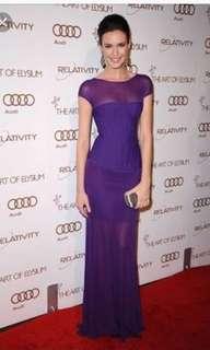 HERVE LEGER Purple Long Dress