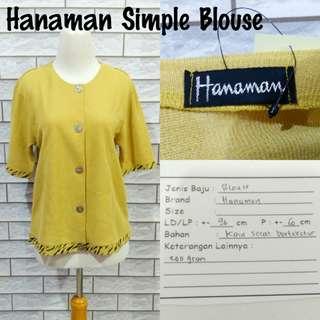Hanaman Simple Blouse | Pakaian Wanita | Atasan Import