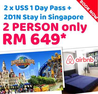 2D1N stay with 2 Uss 1 day pass