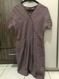 Grey Simple Dress
