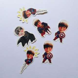 BTS V Superhero Sticker Set