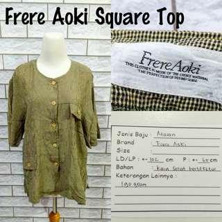 Frere Aoki Square Top | Pakaian Wanita | Atasan Import