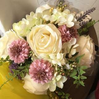 🈹婚禮高質絲花花球