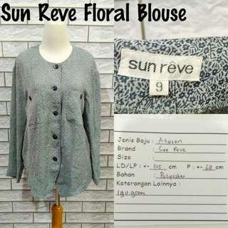 Sun Reve Floral Blouse   Pakaian Wanita   Atasan Import