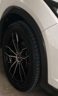 "Iforged 17"" Rim with Tyre"