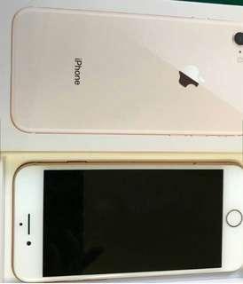 iPhone 8 256G 金色 九成九新