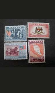 Federation Of Malaya 1957 General Issues - 4v MH Stamps