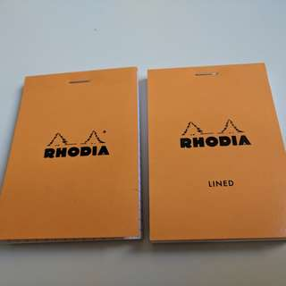 Two Set Rhodia Notepads Lined and Grid Made in France Sustainable Brand