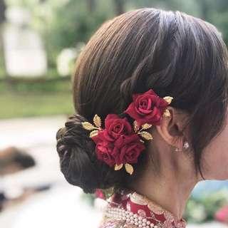 結婚出門褂頭頭飾