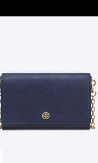 Tory Burch robinsion chain wallet 19.4x12.7cm 帶可拆做clutch