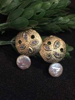 韓國直送 天然珍珠耳環