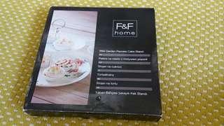 F&F home Wild Garden Peonies  Cake Stand