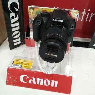 Canon DSLR Eos 1300D cicil cepat hanya bayar 199rb proses mudah dan cepat