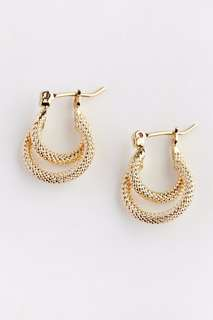 Reliquia Mini Mesh Hoop Earrings