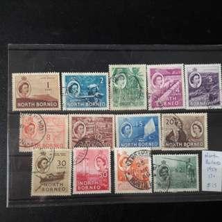 North Borneo stamps 1954