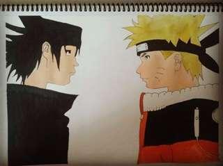 Naruto & Sasuke fanart