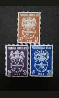 Malaysia 1962 Federation Of Malaya The World United Against Malaria Eradication Complete Set - 3v MH Stamps #2