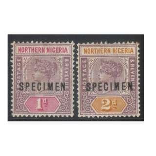 NORTHERN NIGERIA QV 1900 SPECIMEN MH BL610