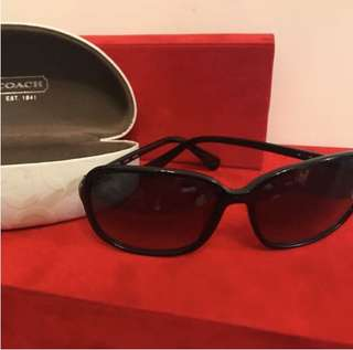 🈹😓$400不議價,真品COACH S2502 Sunglasses in color BLACK,順豐到付