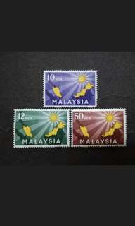 Malaysia 1963 Inauguration Of Federation Complete Set - 3v MH Stamps