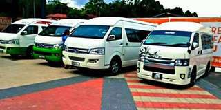 production van / shooting van / agency van / crew van / passengers van / airport van / klia van / umrah van / shuttle van