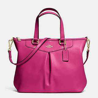 COACH 34680 PLEAT TOTE IN CROSSGRAIN LEATHER