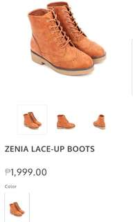 Zenia Lace Up Boots