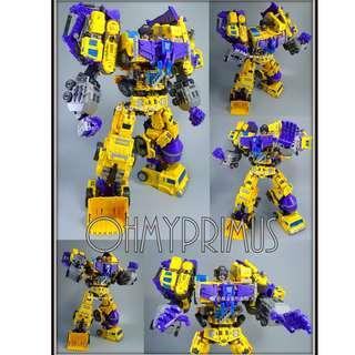 <IN STOCK> NBK TF Engineering KO Generation Toy GT Gravity Builder G2 - Transformers Masterpiece MP Devastator Box Set (Yellow Version)