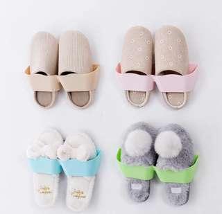 粉色拖鞋架*3組