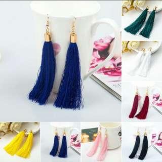 Bohemian tassle earrings