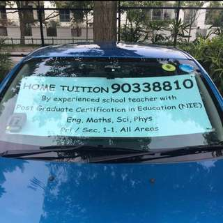 English, Maths, Science, A Maths, Physics Tuition by Experienced Sch Tch