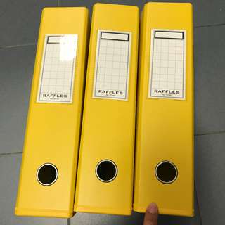 NEW Yellow A4 Ring Files