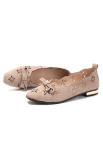 ON HAND Hollow Low Cut Uppers Flat Loafers