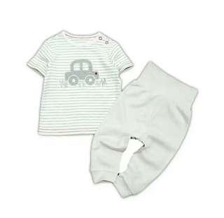 Rene Baby White Stripe VROOOMM 2Pcs Set