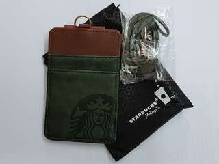 Starbucks Magnetic leather card caddy.